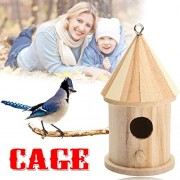 ELECTROPRIME 723F Wooden Outdoor Garden Birds Wood Nesting Box House Nest Home Supply New