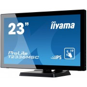 "IIYAMA ProLite T2336MSC-B2 - LED-monitor - 23"" (23"" zichtbaar) - aanraakscherm - 1920 x 1080 Full HD (1080p) - IPS - 250 cd/m²"