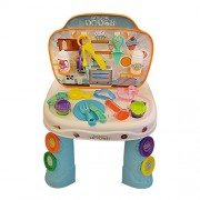 ToysCentral Kitchen and Dough Baking, 2-in-1 Combo Play Set, 44pcs Dual Toy Kit Including 4 Cans of Play Dough