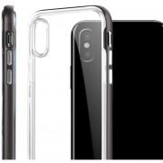 2-en-1 Caso De Teléfono Con Soporte De Teléfono Transparente Cubierta Para IPhone X