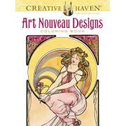 Creative Haven Art Nouveau Designs Coloring Book