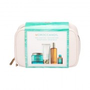 Moroccanoil Body confezione regalo scrub corpo Body Buff 180 ml + crema manie 75 ml + olio corpo 100 ml + olio per capelli Treatment Oil 15 ml + trousse