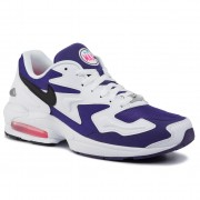 Обувки NIKE - Air Max2 Light AO1741 103 White/Black Court Purple