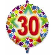 Balon Mylar Rotund 45 cm Stardust 30 Big Party