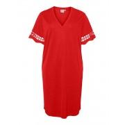 Juna Rose (Maatje Meer) Jrfara 2/4 Sl Below Knee Dress - S - rood - Size: Large