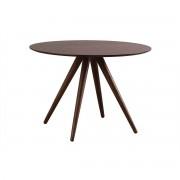 Mesa de comedor redonda diseño 106 cm nogal WALFORD - Miliboo