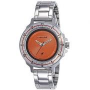 Fastrack Quartz Orange Dial Women Watch-6135SM02
