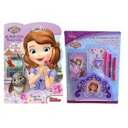 Princess Sofia The First Mini Stationary Case Set & Sofia Coloring Book With Stickers