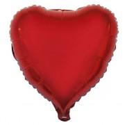 Merkloos Valentijn hartjes ballon rood 52 cm