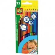 Комплект Цветни моливи, SES, 080226