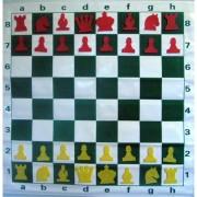 Tablă de șah demonstrativă magnetică care se rulează (66cm)