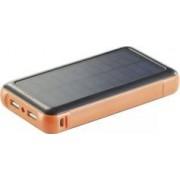 REVOLT Batterie de secours solaire 20.000 mAh avec 2 ports USB