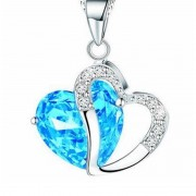 Crystal Amethyst náhrdelník s príveskom srdce modrý