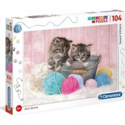Puzzle Clementoni SuperColor: Sweet Kittens, 104 piese