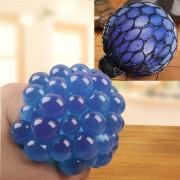 Anti - Estres Relevista Extrusión Compresión Cara De Bola De Humor Sano Uva Socorro Gracioso Tricky Vent Toy (azul)