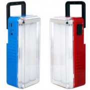 X-EON L112s-BLU-RD OliteRock Rechargeable Emergency Light Portable 10W With Solar Plate - Assorted Color (Pack of 2)