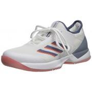 Adidas Adizero Ubersonic 3 X Parley Tenis para Mujer, Blanco/Tinta Tech/Naranja Verdadero, 8 US