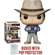 Funko Pop! Movies: Jurassic Park - Dr. Alan Grant Vinyl Figure (Bundled with Pop Box Protector Case)