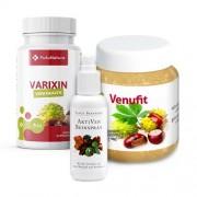 FutuNatura Kit per le gambe e i vasi sanguigni: Varixin + Spray per gambe stanche + Gel alla castagna con rutina