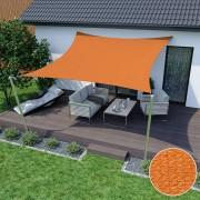 Jarolift Voile d'ombrage carrée, tissu respirant, orange, 3,6 x 3,6 m