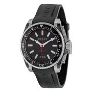 Orologio uomo gucci ya136303 diver lg black&red