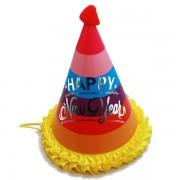 Szivárvány színes kalap, fodros