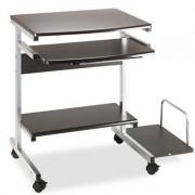 Portrait Pc Desk Cart Mobile Workstation, 36-1/2w X 19-1/4d X 31h, Anthracite