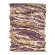 Színes fonal 15m lila, natúr