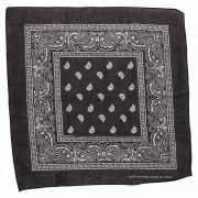 Widmann Zwarte bandana zakdoek 55 x 55 cm