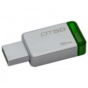 Kingston DataTraveler 50 16GB USB 3.0 pendrive, ezüst-zöld (DT50/16GB)