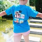 smartphoto Kinder T-Shirt Türkis Rückseite 9 bis 11 Jahre