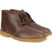 Clarks Desert Boot Camel Leather Boots For Men(Brown)