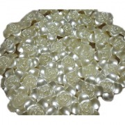 Utkarsh Pack Of 100 Gram White Shell Flower Bead For Embroidery Making Decoration approxly 45 pcs