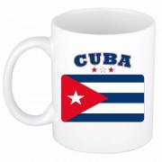Bellatio Decorations Cubaanse vlag theebeker 300 ml