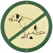 MuurbordjeVerbodsbord voor hondenpoep