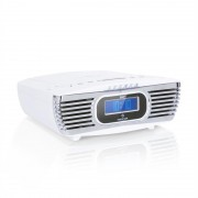 Auna Dreamee DAB+, rádiós ébresztőóra, CD lejátszó, DAB+/FM, CD-R/RW/MP3, AUX, retró, fehér (MG-Dreamee DAB+ WH)