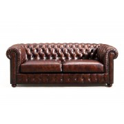 Rose & Moore Canapé Chesterfield en Cuir Rose & Moore