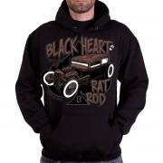 kapucnis pulóver férfi - RAT TRAP - BLACK HEART - 003-0038-BLK