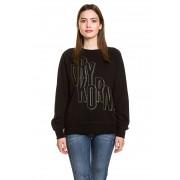 Drykorn Sweatshirt Jezz P2, Rundhals, gerader Schnitt schwarz