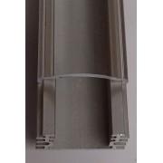 Alusín/alu profil szett IP65 vízálló, átlátszó takaróval, 8-10 mm-es led szalaghoz! 2m sín+2 m átlátszó takaró+ 4 db rögzítő+ 2 db végzáró. Life Light Led.