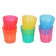 Geen 6x Gekleurde shotglaasjes van plastic