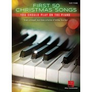 First 50 Christmas Songs You Should Play on the Piano, Paperback/Hal Leonard Corp