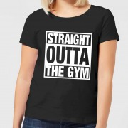 Mens Slogan Collection Straight Outta the Gym Women's T-Shirt - Black - 4XL - Black