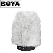 BOYA BY-P120 Furry Outdoor Interview Windshield Muff for Shotgun Capacitor Microphones - Blana microfon