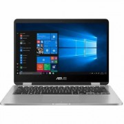 Ordinateur / PC Portable ASUS VivoBook Flip 14 TP401MA BZ080R - Conception inclinable - Pentium Silver N5000 / 1.1 GHz - Win 10 Pro - 4 Go RAM - 64 Go eMMC - 14 écran tactile 1366 x 768 (HD) - UHD Graphics 605 - 802.11ac, Bluetooth - gris clair -...