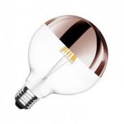 efectoled.com Bombilla LED E27 Regulable Filamento Copper Reflect Supreme G125 6W Blanco Cálido