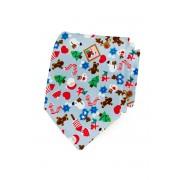 Bavlněná kravata LUX s vánočním motivem Avantgard 601-5041