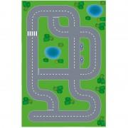 Shoppartners Dorpje XL DIY speelgoed stratenplan/ kartonnen speelkleed - Hobbypakket