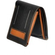 Classic World Men Casual Black, Brown Artificial Leather Wallet(4 Card Slots)