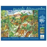 Puzzle observatie - Dinozaurii, 100 piese